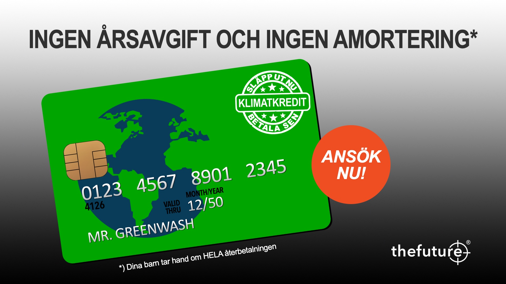 thefuture, Blogg, Greenwash-Kreditkort