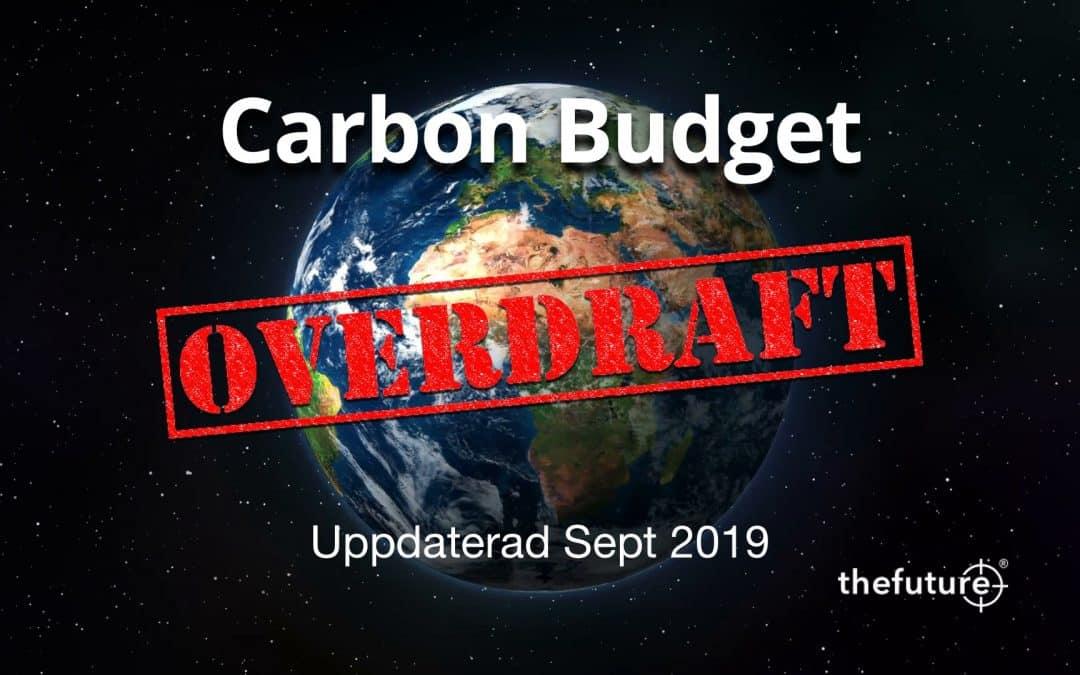 Inom budgeten – eller gränslösa utsläpp – Uppdaterad