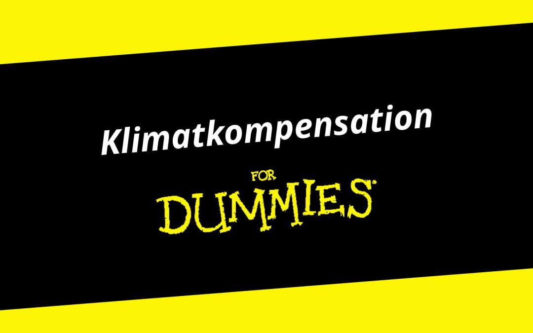 Klimatkompensation for Dummies