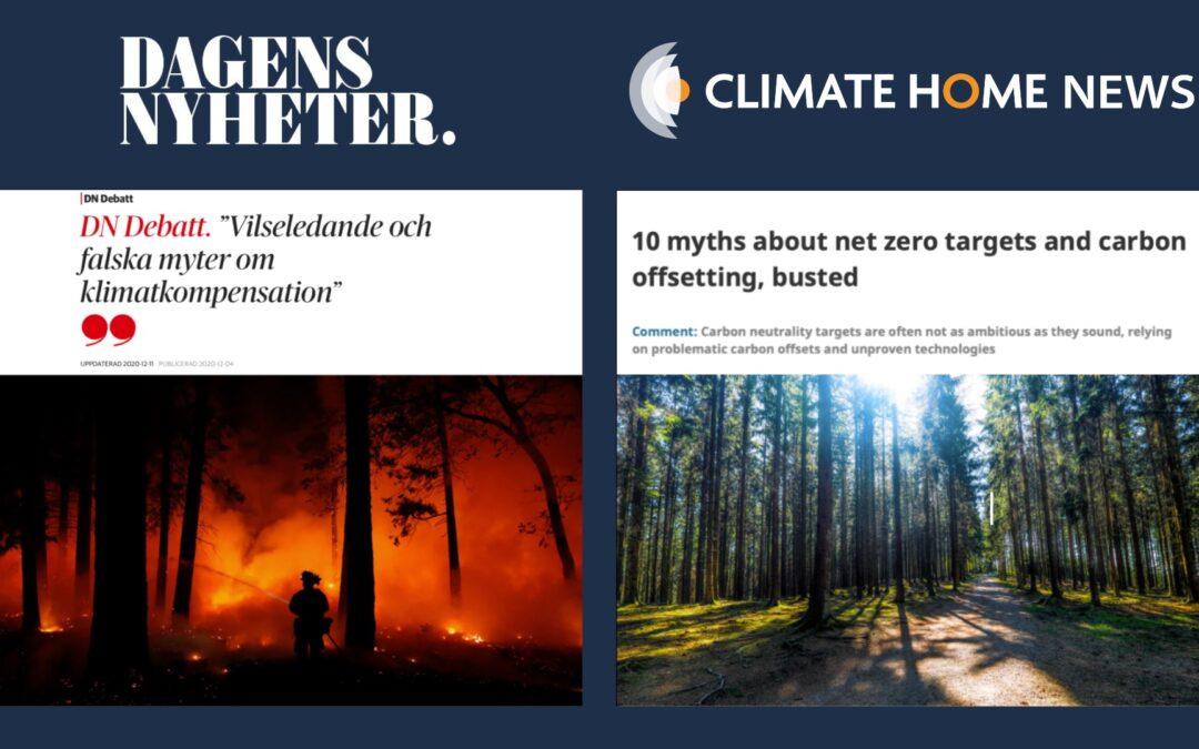 """""""Vilseledande och falska myter om klimatkompensation"""""""